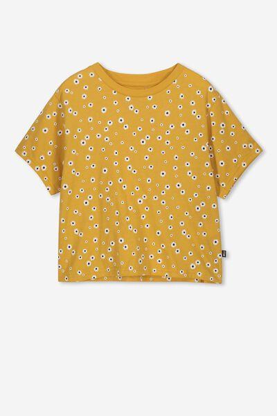 Boxy T-Shirt, GOLD RUSH/DAISY