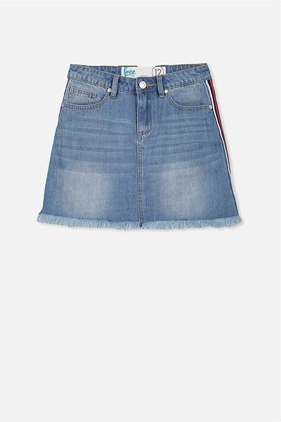 Piper Denim Skirt, SUMMER INDIGO