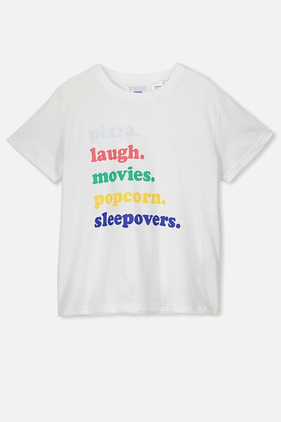 Bonnie Sleep Tee, WHITE/SLEEPOVERS