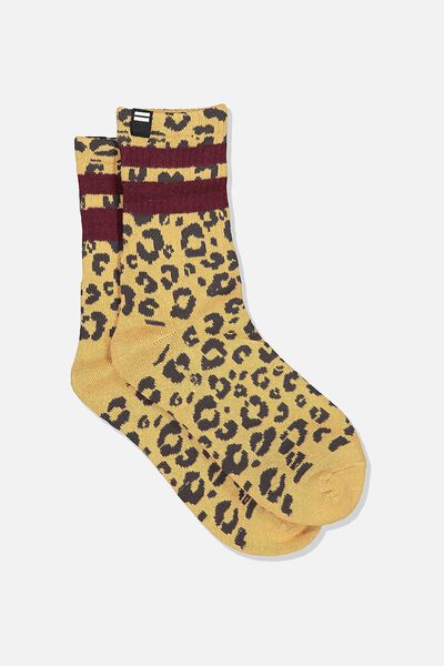Ribbed Crew Socks, ANIMAL/RICH GREEN