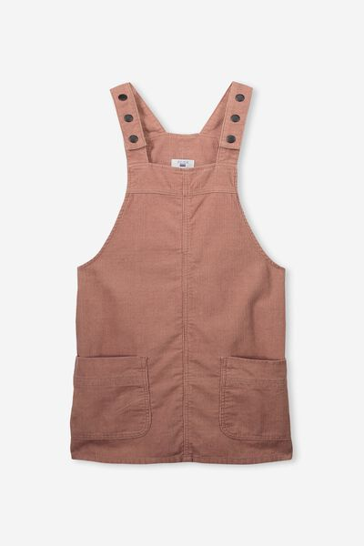 Cord Pinafore, DUSTY ROSE