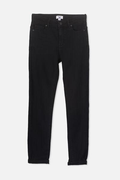 Slim Leg Jean, BLACK
