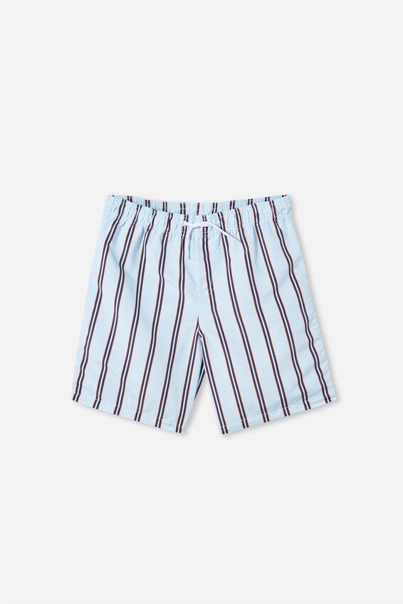 Boys Bailey Boardshort, VERTICAL STRIPE/FROSTY BLUE