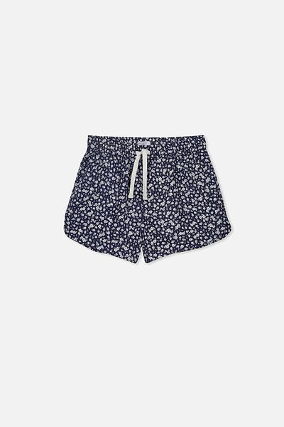 Willow Woven Short, NAVY/HAVANA DITSY