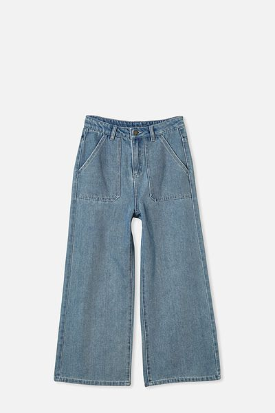 Elka Wide Leg Jean, MID BLUE WASH