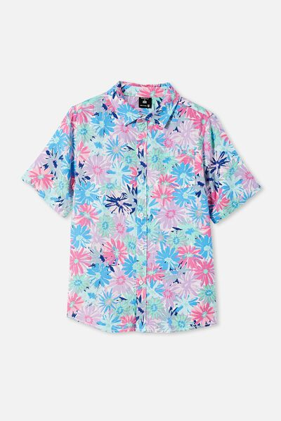 Kip & Co Boys Resort Short Sleeve Shirt, LCN KIP PETAL POWER