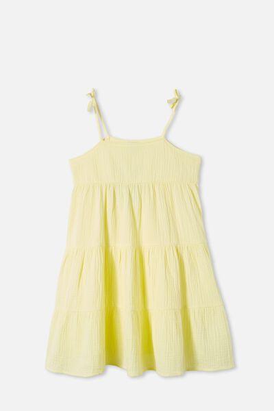 Nicole Sleeveless Dress, LEMONADE