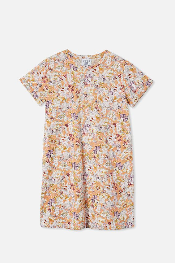 Toni Tshirt Sleeve Dress, BLUSH MARLE/COASTAL FLORAL