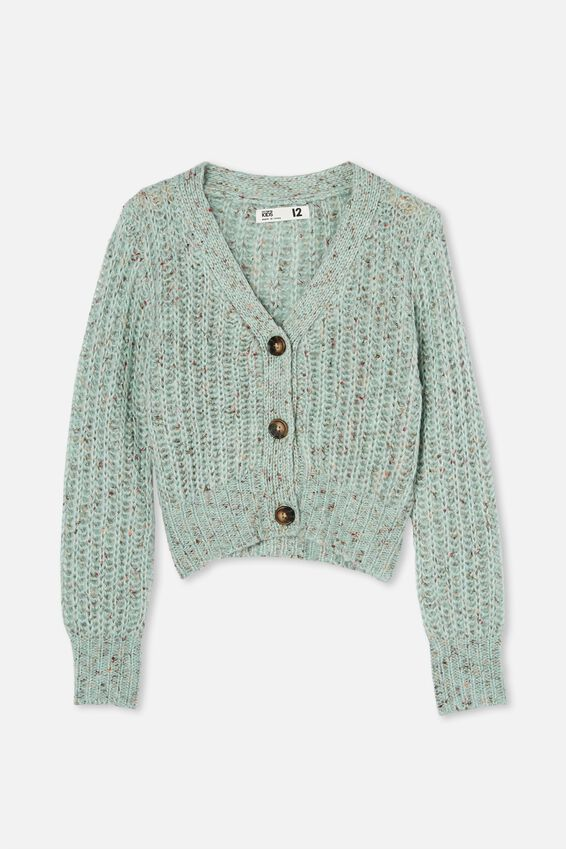Martha Multi Knit Cardi, DUCK EGG FLECK