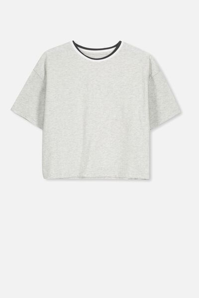 Boxy T-Shirt, SOFT GREY MARLE