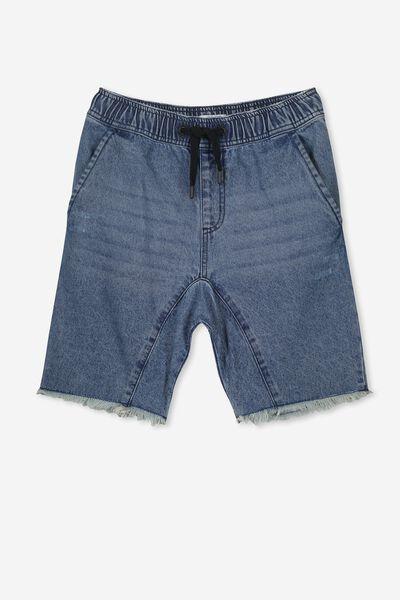 Drop Crotch Short, DK INDIGO
