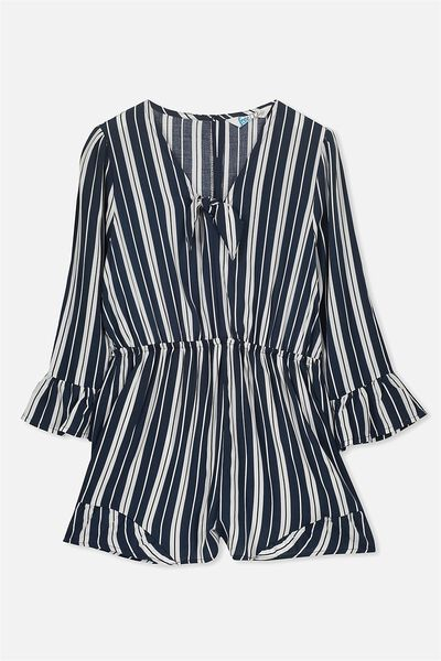 Matilda Playsuit, OBRIEN BLUE/RETRO STRIPE