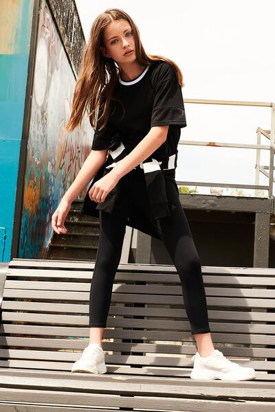 Boxy T-Shirt, BLACK