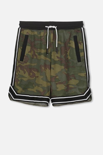 Basketball Short, CAMO PRINT/BLACK TAPE