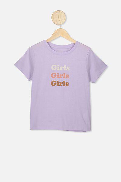Girls Classic T-Shirt, VINTAGE LILAC/GIRLS