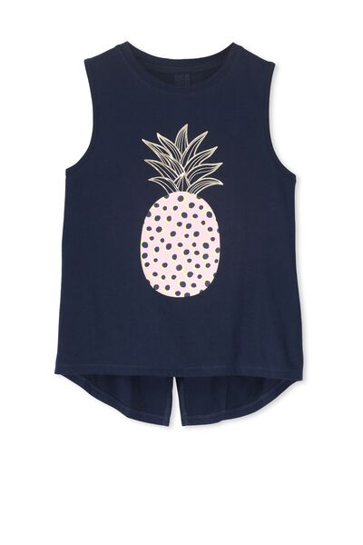 Hailey Tank, OBRIEN BLUE/PINEAPPLE