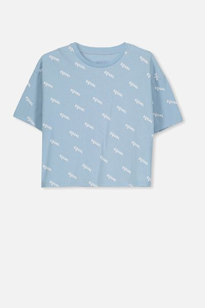 Boxy T-Shirt, WINTER BLUE/EQUAL