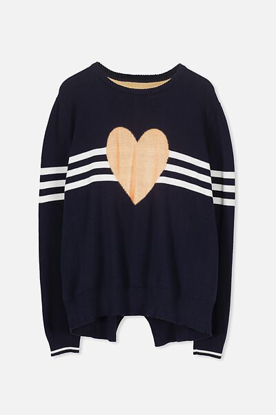 Milly Knit, OBRIEN BLUE HEART