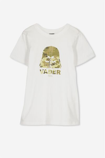 Louis Licence Tee, WHITE/LCN STAR WARS CAMO VADER