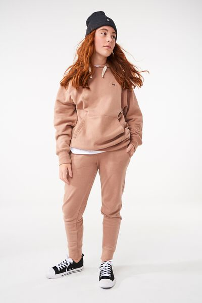 Equal Fleece Hoodie, TAWNY BROWN