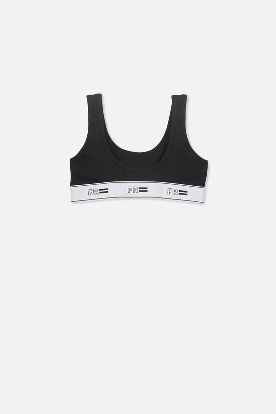 Girls Crop Top, BLACK