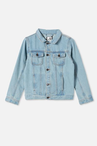 Boys Quinn Denim Jacket, VINTAGE BLUE WASH