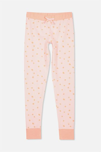 Zoe Sleep Pant, PINK MARSHMALLOW/PAINT SPOT