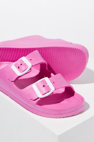 Free Twin Strap Sandal, MAGENTA