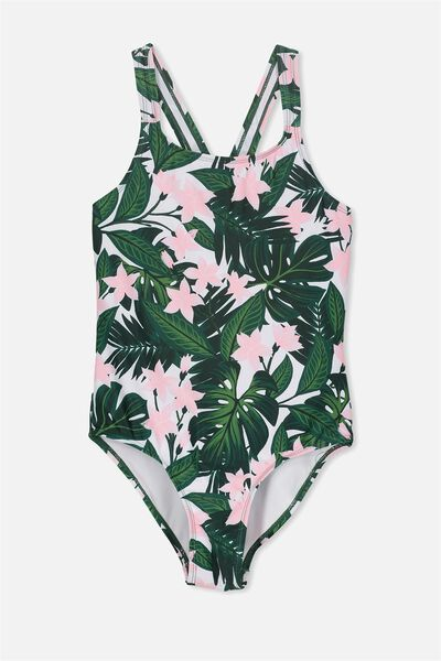 Amber Cross Back One Piece, JUNGLE FLORAL