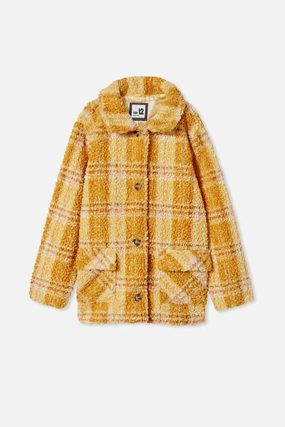 Claudia Check Jacket, HONEY GOLD CHECK