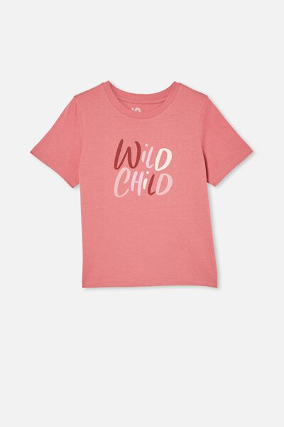 Girls Classic Ss Tee, VERY BERRY/WILD CHILD