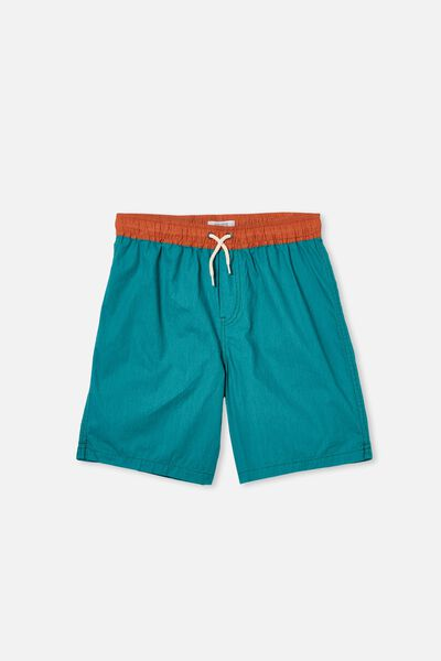 Boys Volly Short, ROCKPOOL BLUE/ROASTED ALMON WB