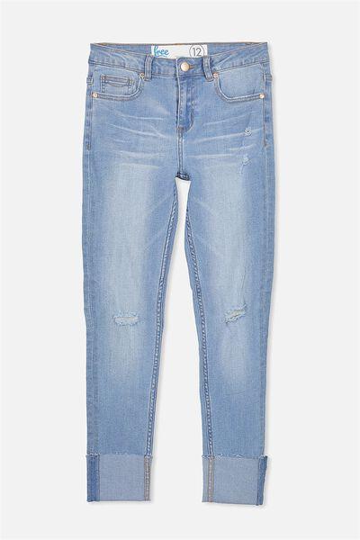 Wide Cuff Jean, BRIGHT MID INDIGO