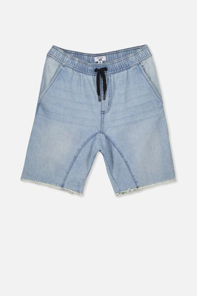 Drop Crotch Short, BLEACHED INDIGO