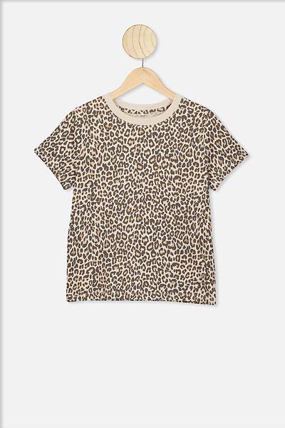 Primrose Classic Tshirt, RAINY DAY/LEOPARD