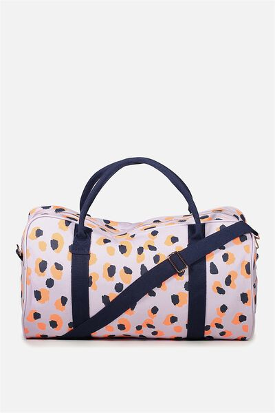 Free Overnight Tote, LEOPARD POP