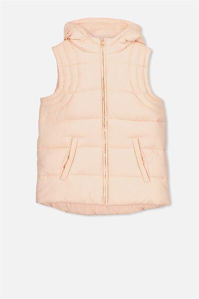 Addison Puffer Vest, SEA PINK