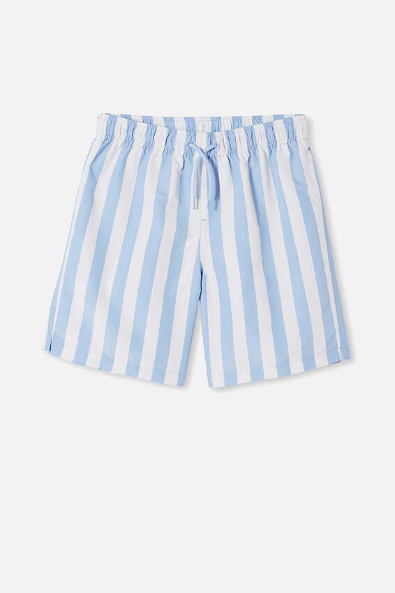 Boys Bailey Boardshort, CANDY STRIPE/DUSK BLUE
