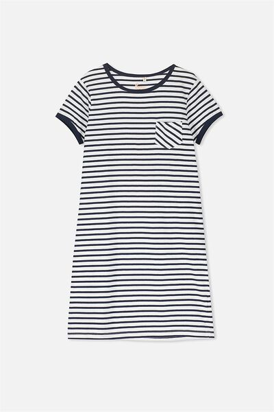 Darci Dress, NAVY STRIPE