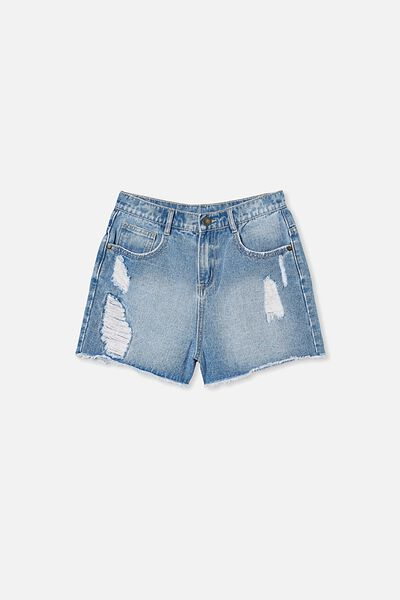 Sully Denim Short, WEEKEND WASH/RIPS