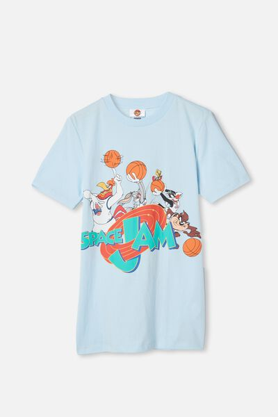 Co-Lab Free Tee, LCN WB FROSTY BLUE/ SPACE JAM
