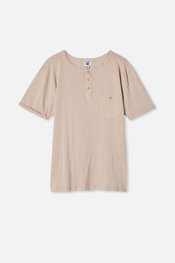 Free Boys Short Sleeve Henley Tee, RAINY DAY