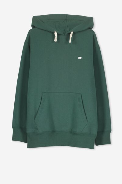Equal Fleece Hoodie, RICH GREEN
