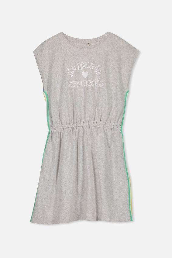 Darci Dress, LIGHT GREY MARLE/JE PARLE
