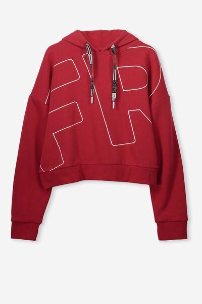 Boxy Hoodie, RACING RED/FR