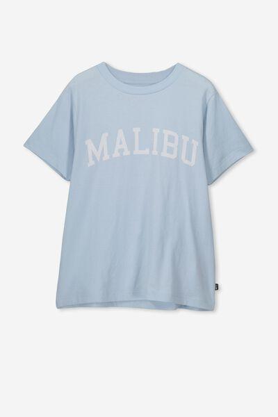 Girls Graphic T-Shirt, LT SURF BLUE/MALIBU