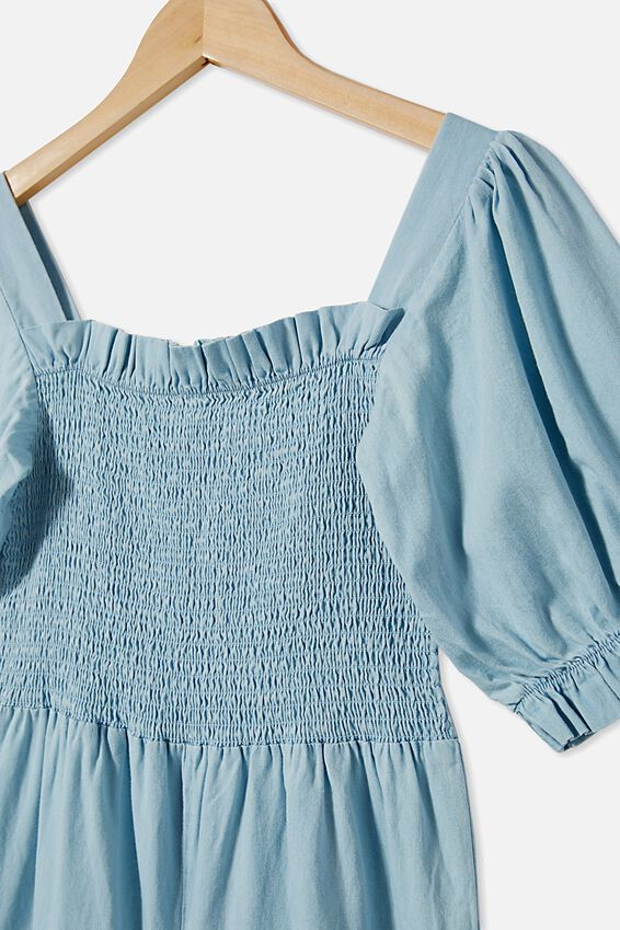 Mona Playsuit, LIGHT WASH
