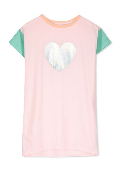Martha Nightie, PINK MAGNOLIA/HEART