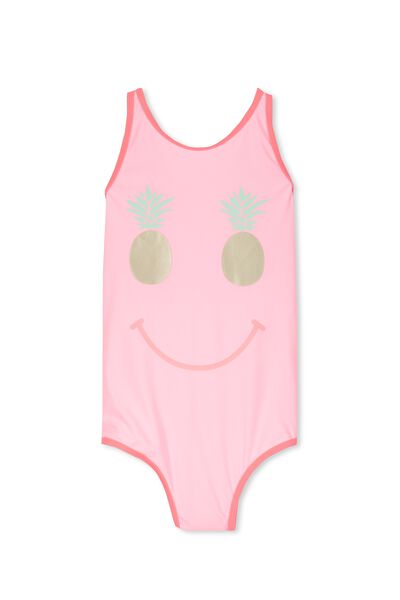 Ebony One Piece, PINK GRAPEFRUIT/PINEAPPLE SMILES