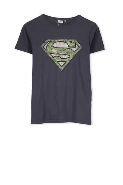 Louis Licence Tee, GRAPHITE/CAMO SUPERMAN